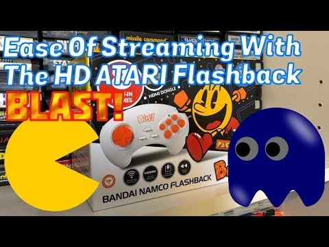 How To Livestream The HD AtGames Atari Flashback BLAST! Pac-Man, Bandai Namco - Emceemur