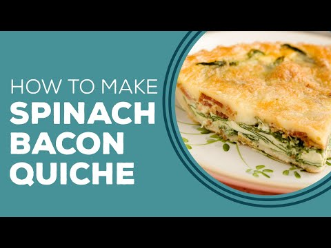 Spinach Bacon Quiche - Blast from the Past