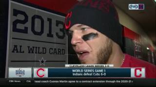 Roberto Perez after hitting two home runs in Game 1 win over Cubs | 2016 World Series
