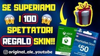 LET's PLAY WITH MILLEACCENDINI!! - XBOX/PSN Card REGALO!! - LIVE FORTNITE ITA - SHOP 22 JENNAIO
