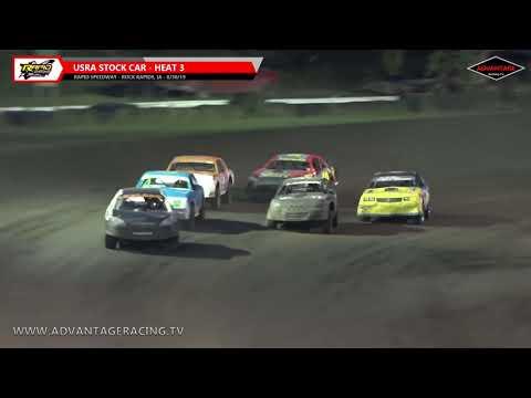Stock Car Heats/Hobby Stock B Feature - Rapid Speedway - 8/30/19