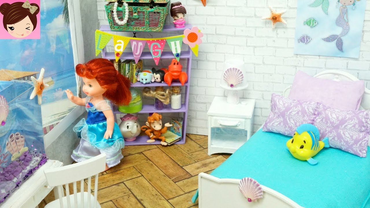 Diy Disney Ariel Mermaid Inspired Toddler Doll Room Titi