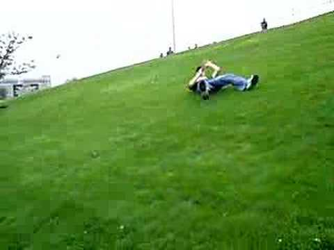 Ryan rolls down hill