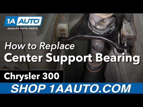How to Install Replace Driveshaft Center Support Bearing 2005-10 Chrysler 300