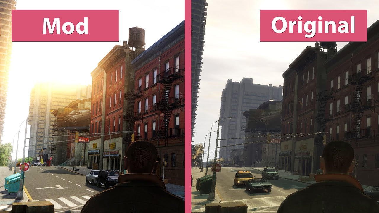 Gta  Insane Mod Overhaul With Cryenb V Vs Original Graphics Comparison Wqhd Youtube