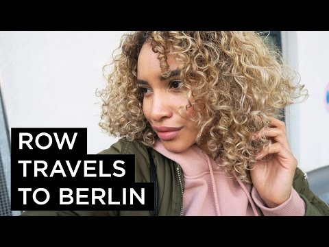 VLOG || Row Travels to Berlin (How to Travel with Curly Hair)