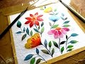 Simple flower painting with watercolor, watercolor painting for beginners, paint with david