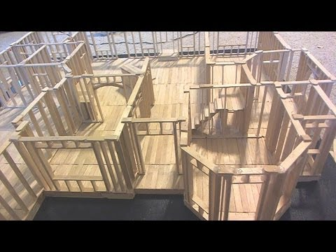 Building Popsicle Stick House Time Lapse YouTube