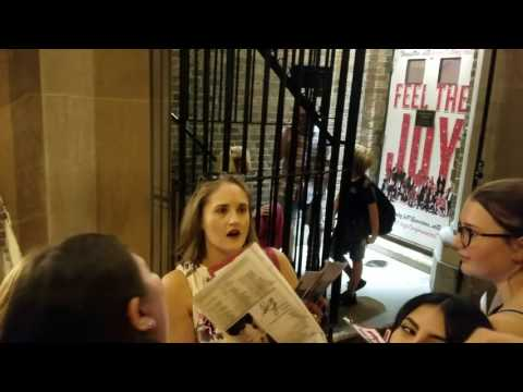 At the Stage Door After Kinky Boots