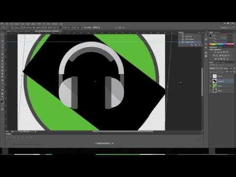 How To Make Simple Flat Icon (logo) Photoshop (music icon)..!!