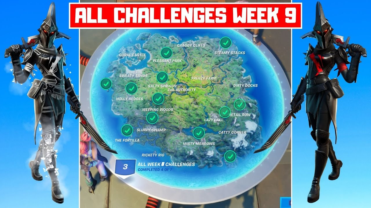 All Week 9 Challenges Guide! - Fortnite Chapter 2 Season 3