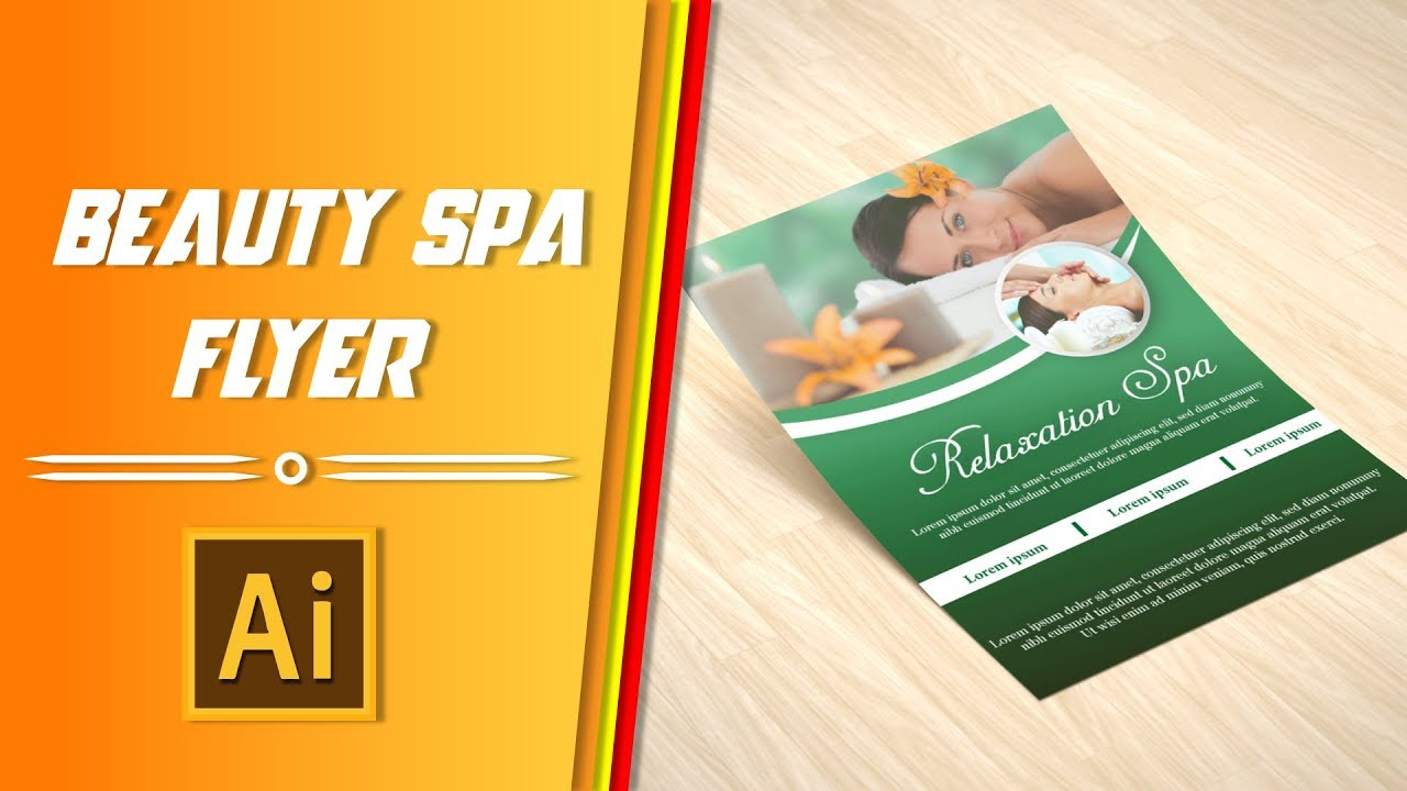 Beauty spa flyer design | illustator tutorial || Slashtechbd