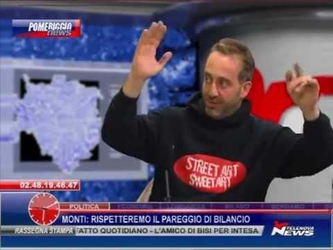 Il Writer Gatto Nero A Telenova News Spazio Aperto 241111 Youtube