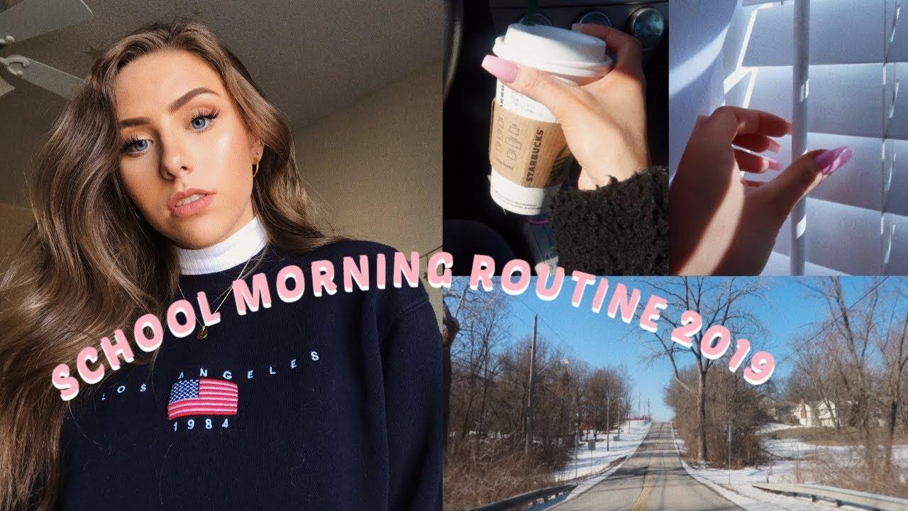 School Morning Routine (vlog style) | Winter 2019