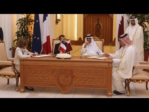 Visite d'Emmanuel Macron au Qatar: Doha achète 12Rafale et 50Airbus