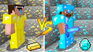 MINECRAFT - NOOB VS PRO: GOLD or DIAMOND BATTLE in Minecraft