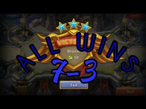 Castle Clash Squad Showdown 7-3 All Wins And Setup