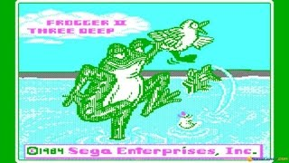 Frogger 2 - ThreeeDeep gameplay (PC Game, 1984)