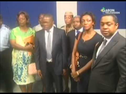 Visite du ministre de la communication a Radio Gabon et Gabon Télévision