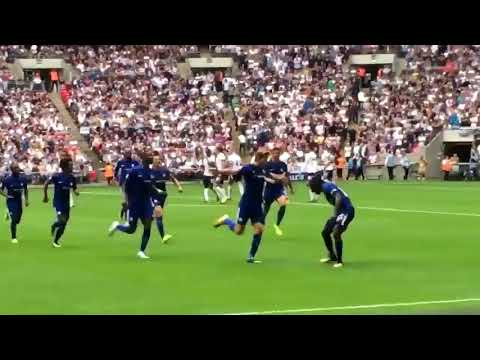 Stadium Fan View Marcus Alonso Free Kick v Spurs @ WEMBLEY 2017