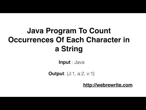 Java Program To Count Occurrences Of Each Character in a String