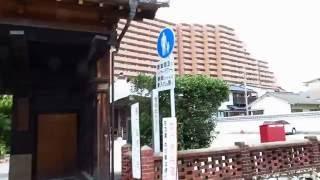高知市比島龍乗院の門は板垣退助の生家の門が壊されそうになり明治42年4...