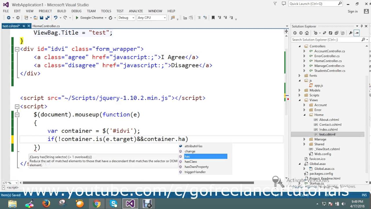 Use jQuery to hide a DIV when the user clicks outside of it