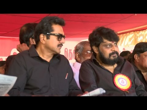 Tamil Cinema Protest begins Supporting Jayalalithaa – RedPix24x7  Tamil Nadu continues to be on edge after the arrest of former Chief minister J Jayalalithaa in 18-year-old disproportionate assets case on September 27. The Tamil Nadu film industry will not showcase any movie on Tuesday across theatres in the state to protest Jayalalithaa's sentencing. In order to show their support for Jayalalithaa, members of Tamil Film Exhibitors Association will go on fast on Tuesday. Members of Tamil Film Producers Council (TPFC) and South Indian Artists Association (SIAA) have also backed the hunger strike. In the meantime, Jayalalithaa's bail plea will come up for hearing in Karnataka High Court. She had moved the high court seeking bail and challenging her conviction. Jayalalithaa, her aide Sasikala and two others were found guilty in the 66.65 crore case and fined by the court. While the AIADMK chief was asked to pay Rs 100 crore, the three others were fined Rs 10 crore each. The state witnessed numerous suicide attempts and deaths soon after the judgment. Some reports said that a total of 16 persons had committed suicide or died of cardiac arrest across the state. The AIADMK elected Jayalalithaa's right-hand man O Panneerselvam to take over the reins of the government in her absence. Panneerselvam, who broke down as he took the oath on Monday, made no changes in the portfolios, keeping home, finance and public affairs with himself. This is Panneerselvam's second stint as the CM. In 2001, Jayalalithaa handpicked him to fill her shoes when she was convicted in the TANSI land scam. The trusted Jayalalithaa loyalist refused to sit in her chair saying it belonged to his 'revered' leader.  www.bbc.co.uk/tamil indiaglitz. tamil.oneindia.in  behindwoods.com puthiyathalaimurai.tv VIJAY TV STARVIJAY Vijay Tv  -~-~~-~~~-~~-~- Please watch: