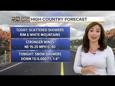 Rain and snow in the forecast