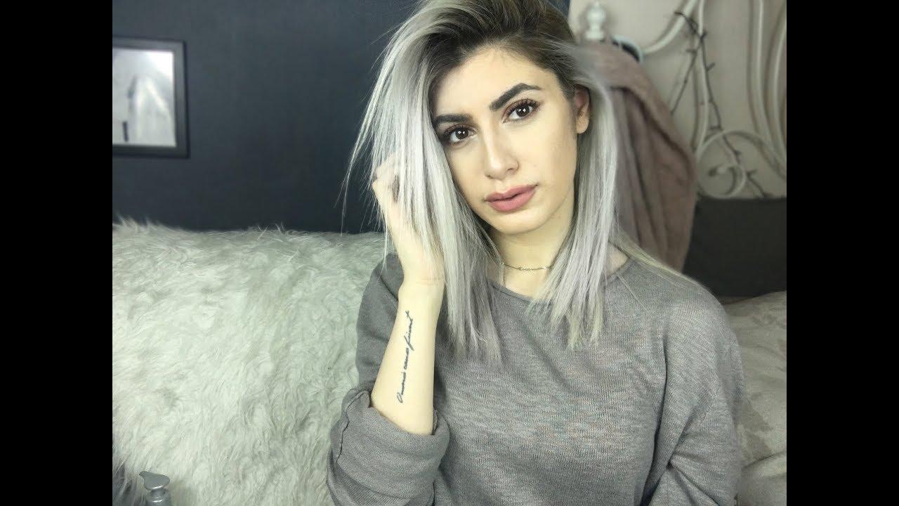 Evde Saçları Griye Boyamak Gri Rengini Uzun Süre Korumak Için