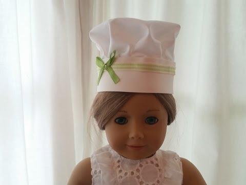 American Girl Chef Hat ~ No Sew DIY