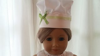 American Girl Chef Hat ~ No Sew DIY