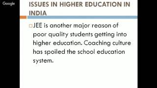Issues in Higher Education in India by Dr JS Saini