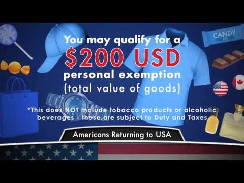Duty Free Canada: American Customs Allowances