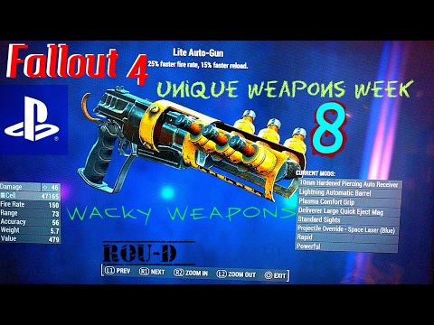 Fallout 4 - WACKY WEAPONS - UNIQUE CREATIONS -Adapted Laser RCW, Burst Gun, Deathclaw Fist, Auto-Gun