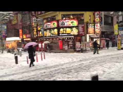Heavy Snow in Tokyo, Jan 14, 2013