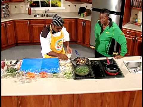 Braised Liver & Steamed Callaloo -- Grace Foods Creative Cooking Feeding Jamaica's Olympians