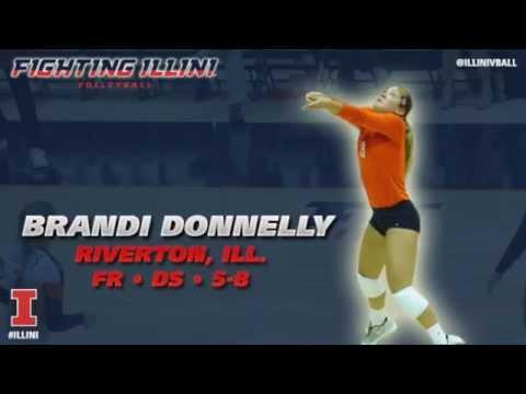 Illinois Volleyball: Meet the Team - Brandi Donnelly