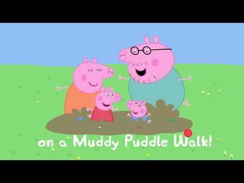 Peppa Pig - Peppa Pig's Muddy Puddle Walk Song!