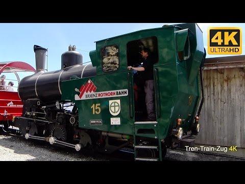 4K Cab ride steam locomotive BRB. Switzerland.