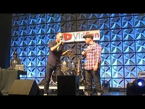 Mozart vs Skrillex - Epic Rap Battles of History (Live) - VidCon 2013