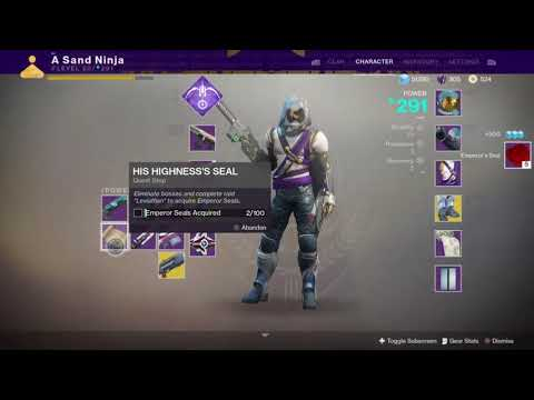 """His Highness's Seal"" quest bug - Destiny 2"