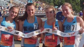 Granville girls relay team wins national title