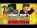 """LUCKY BLOCK ADVENTURES #6 - """"Hunt for the Eyes of Ender!"""" (Minecraft Lucky Block Survival)"""