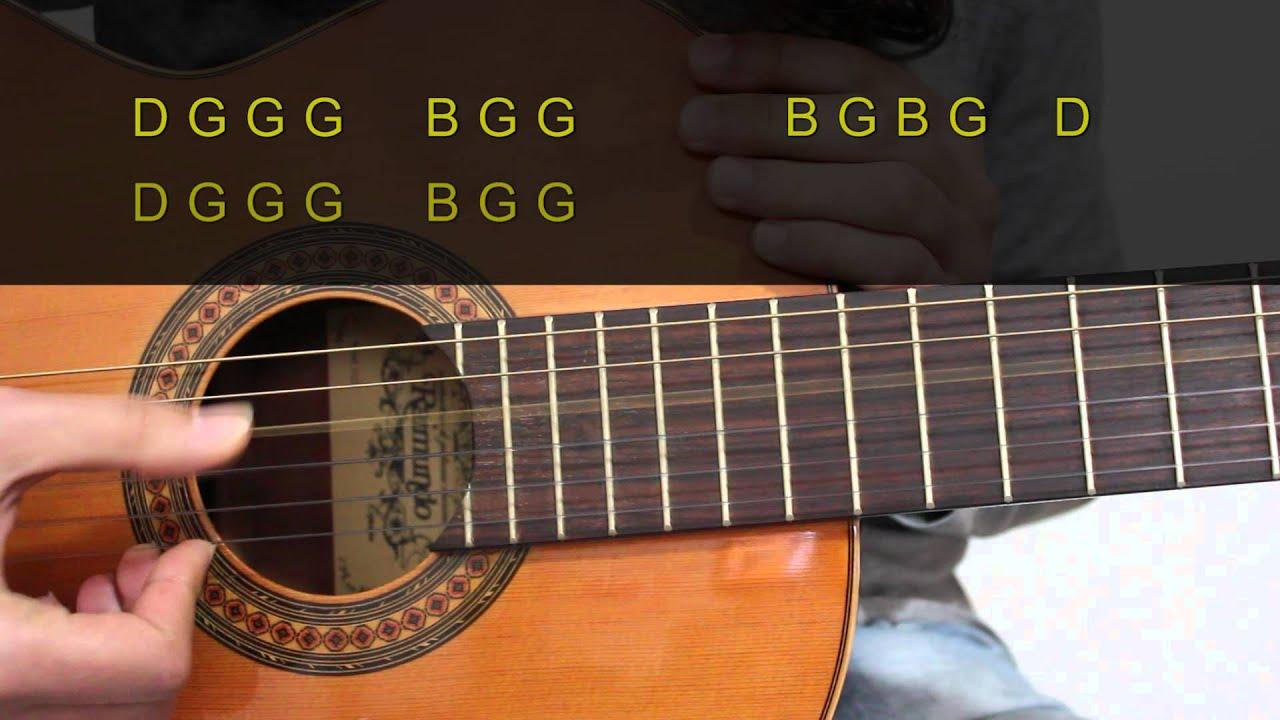 easy song for guitar spanish popular i open strings youtube. Black Bedroom Furniture Sets. Home Design Ideas