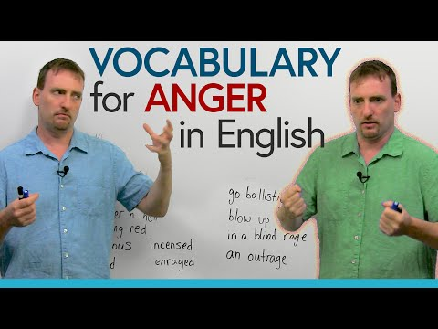 Improve your Vocabulary: 29 ways to express anger in English