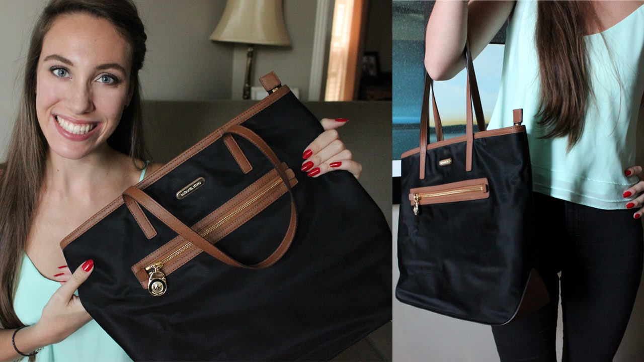 a1c0a73e9bed Michael Kors Kempton Large N/S Tote Review! | LexiLindon - YouTube