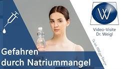 Natriummangel durch Hitze, Schwitzen & zuviel Flüßigkeit - Gefahren durch zu wenig Natrium