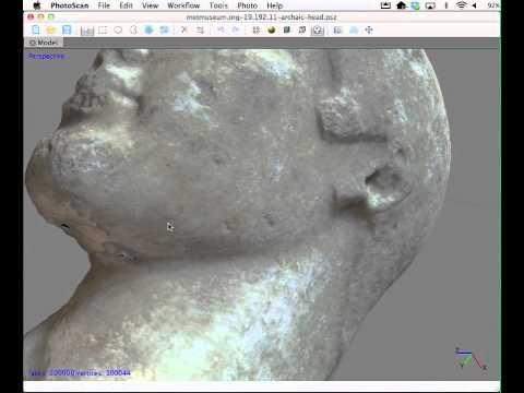 3d Model of Met 19.192.11 (L. Archaic/E. Classical Head)