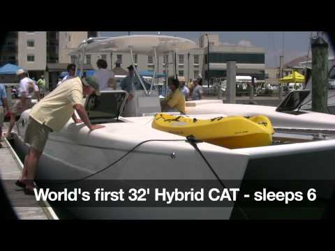 2011 Crystal Coast Boat Show - Hybrid Cat Unveiled By Blue Planet